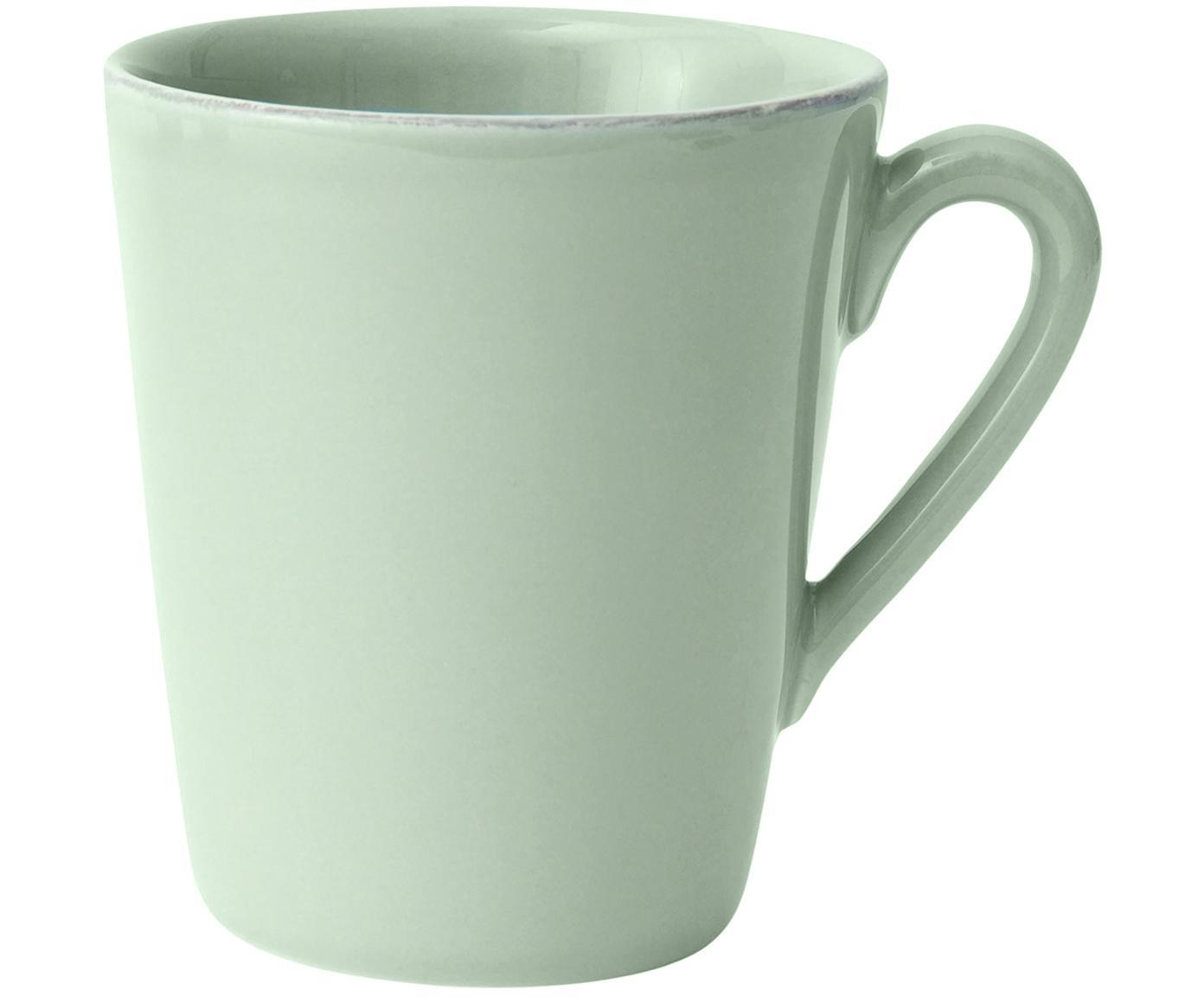 Tazas Constance, 2uds., Gres, Verde menta, Ø 12 x Al 10 cm