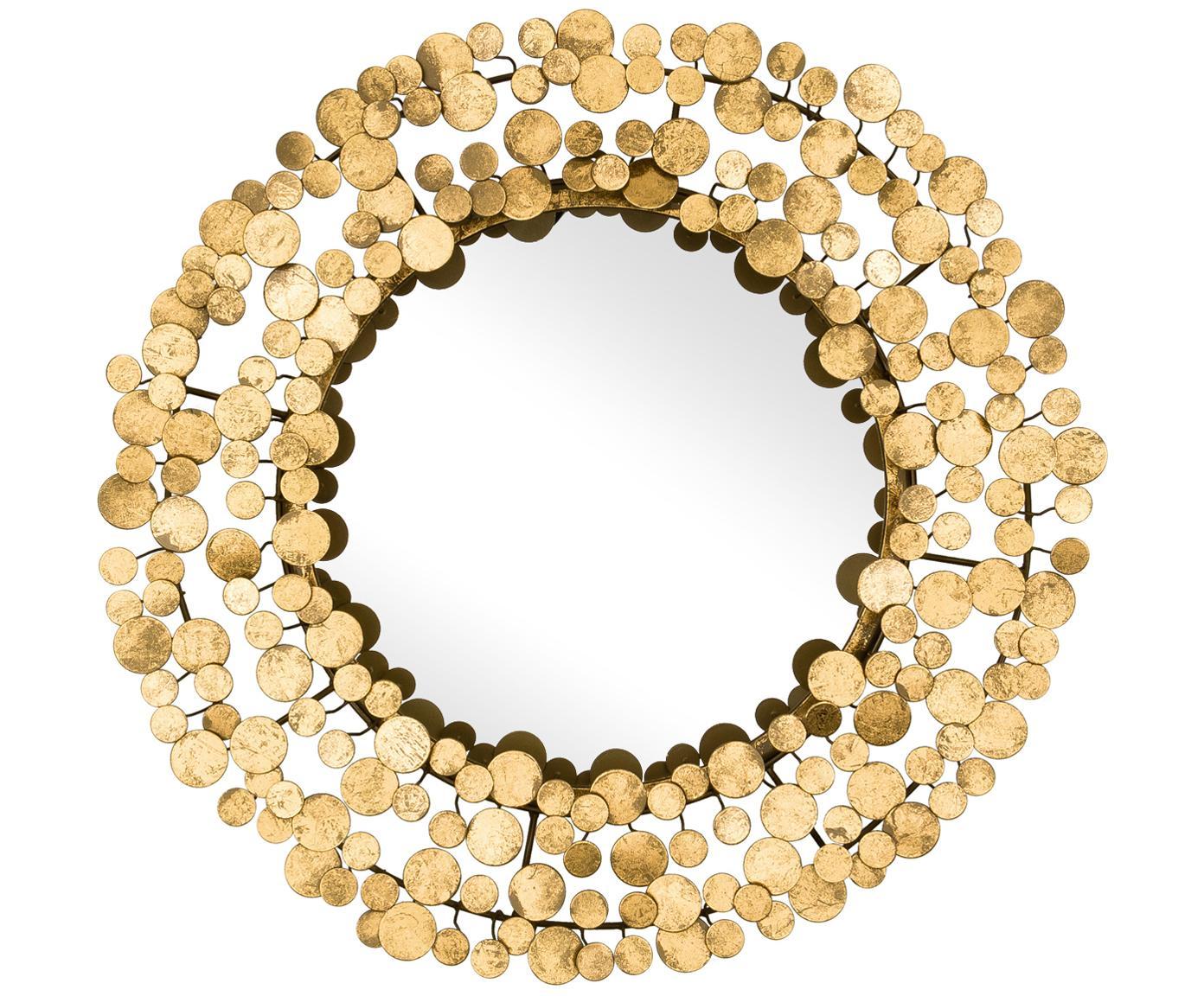 Espejo de pared Penny, Espejo: cristal, Dorado, Ø 64 cm