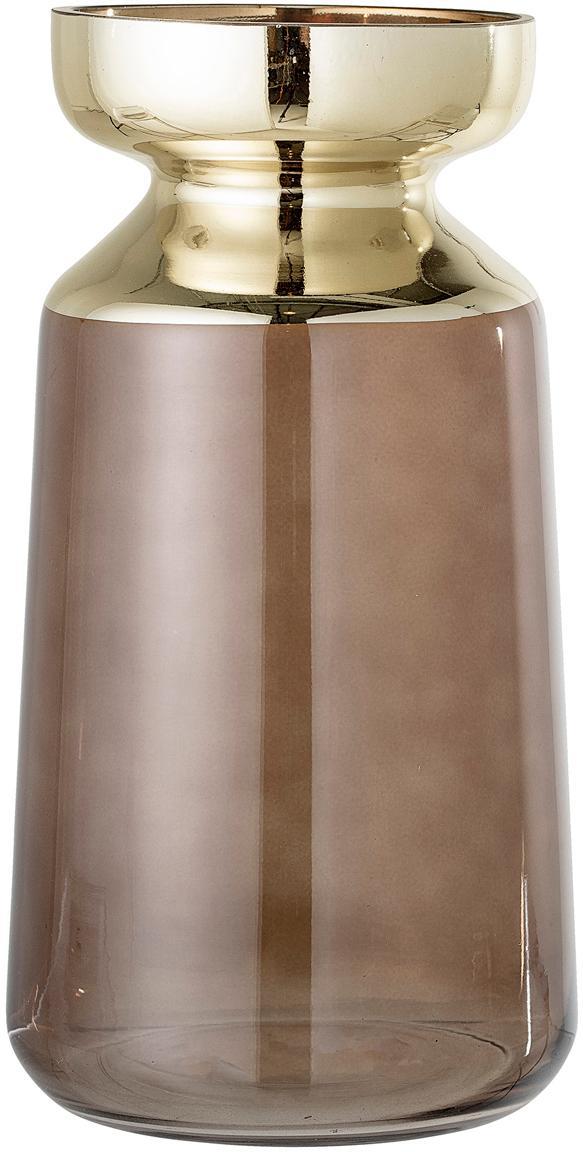 Vaas Shine, Glas, Bruin, goudkleurig, Ø 16 x H 30 cm