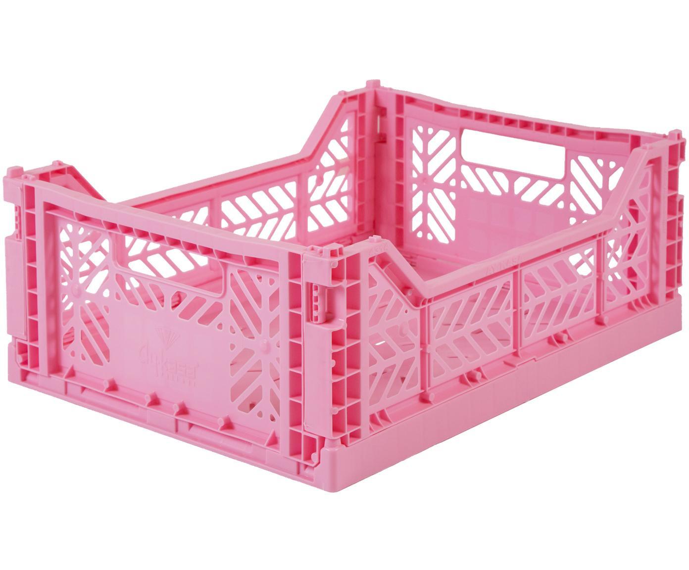 Średnie składane pudełko do przechowywania Baby Pink, Tworzywo sztuczne z recyklingu, Różowy, S 40 x W 14 cm