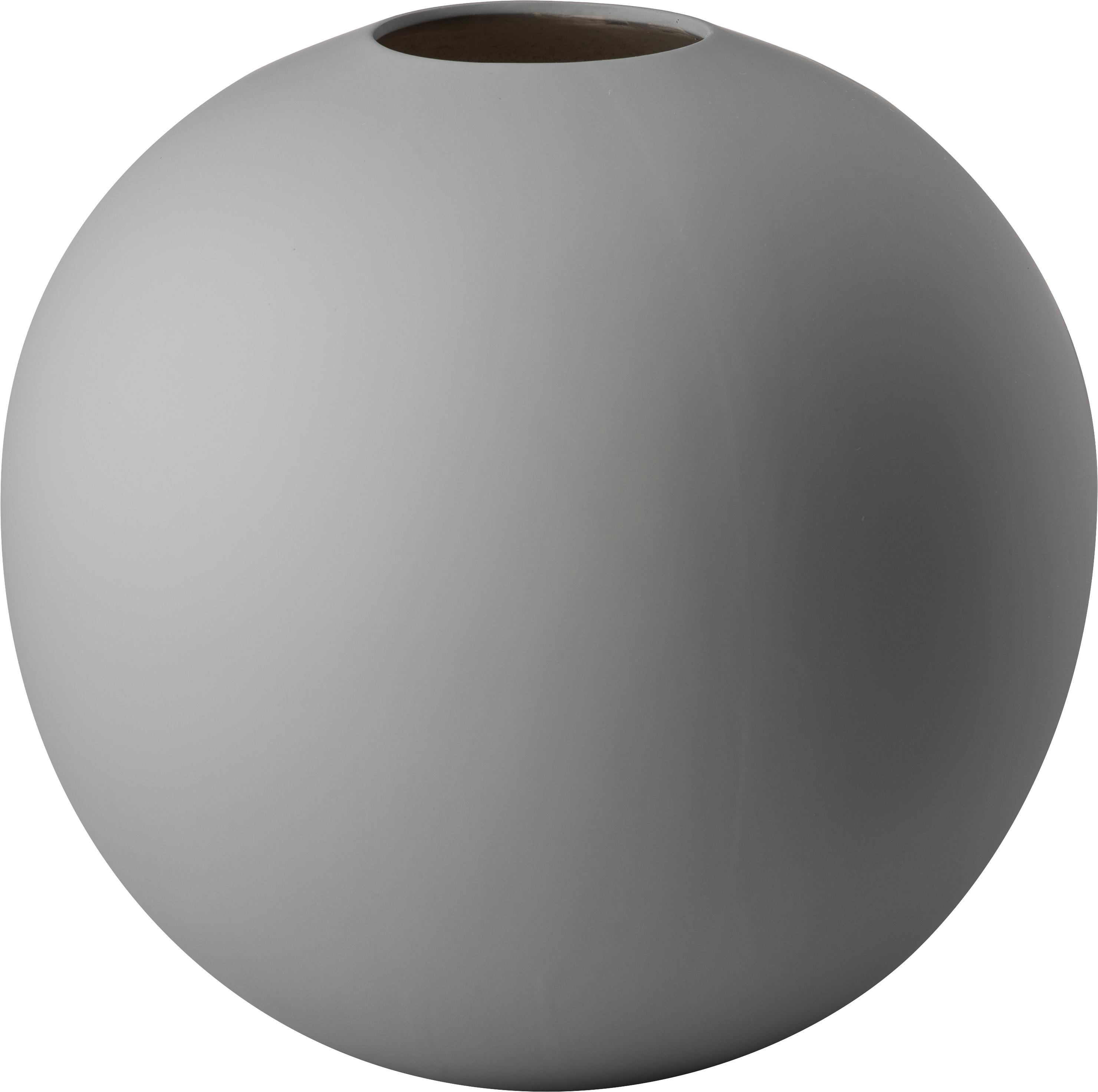 Handgefertigte Kugel-Vase Ball, Keramik, Grau, Ø 20 x H 20 cm