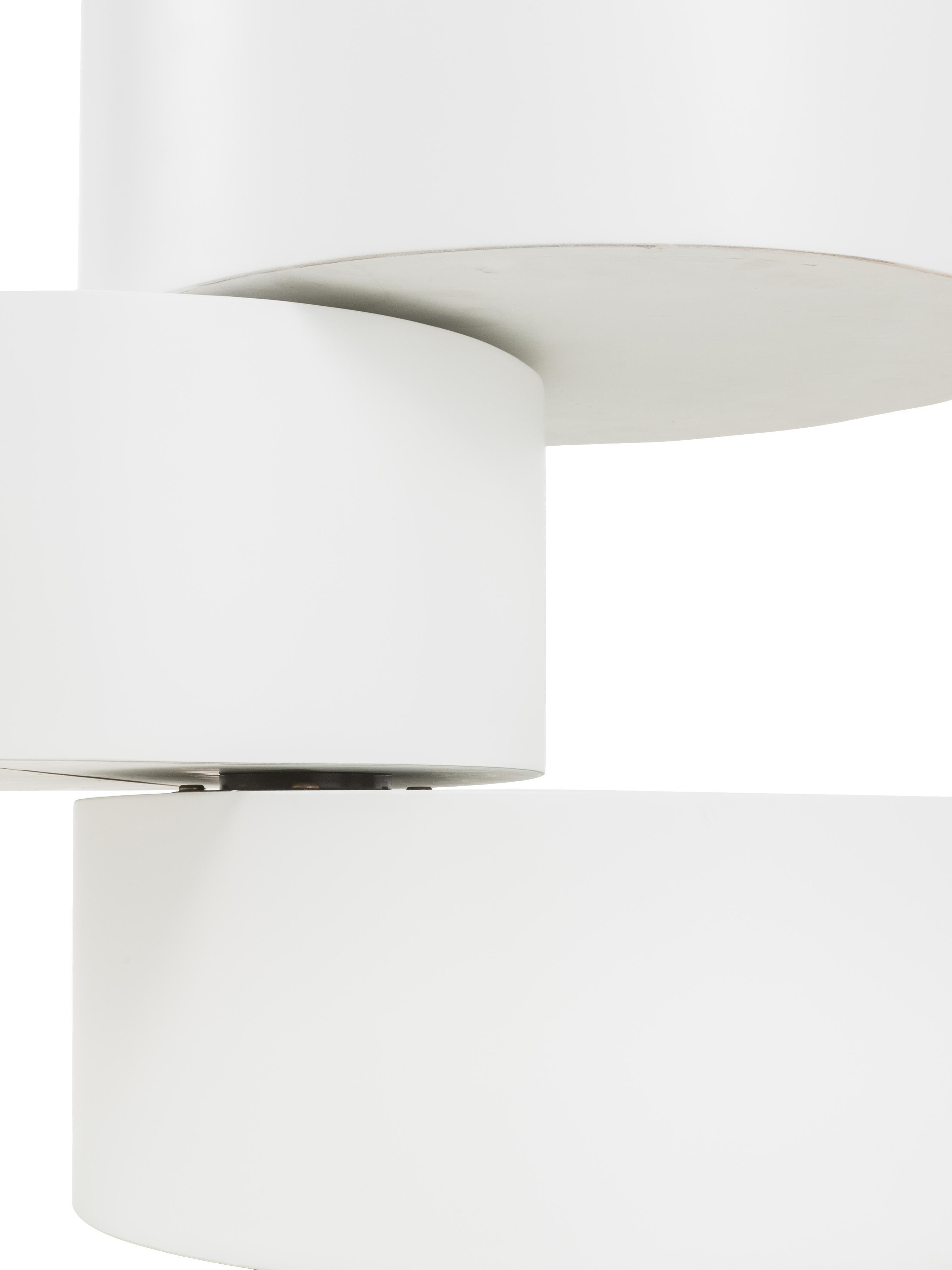 Bijzettafel Loka, Gelakt MDF, Wit, Ø 40 x H 51 cm