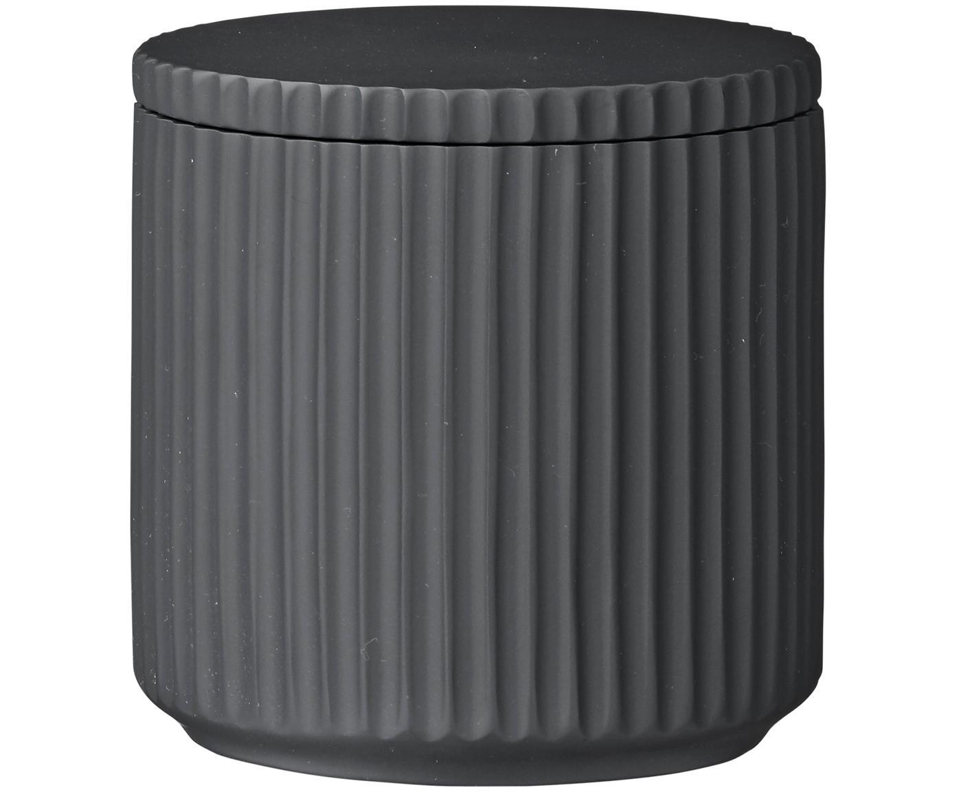 Pojemnik do przechowywania Marlena, Poliresing, Ciemny szary, Ø 9 x W 9 cm