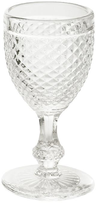 Schnapsgläser Diamond, 6 Stück, Glas, Transparent, Ø 5 x H 10 cm