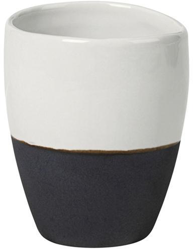 Ręcznie wykonany kubek do espresso Esrum, 4 szt., Odcienie kości słoniowej, szarobrązowy, 100 ml
