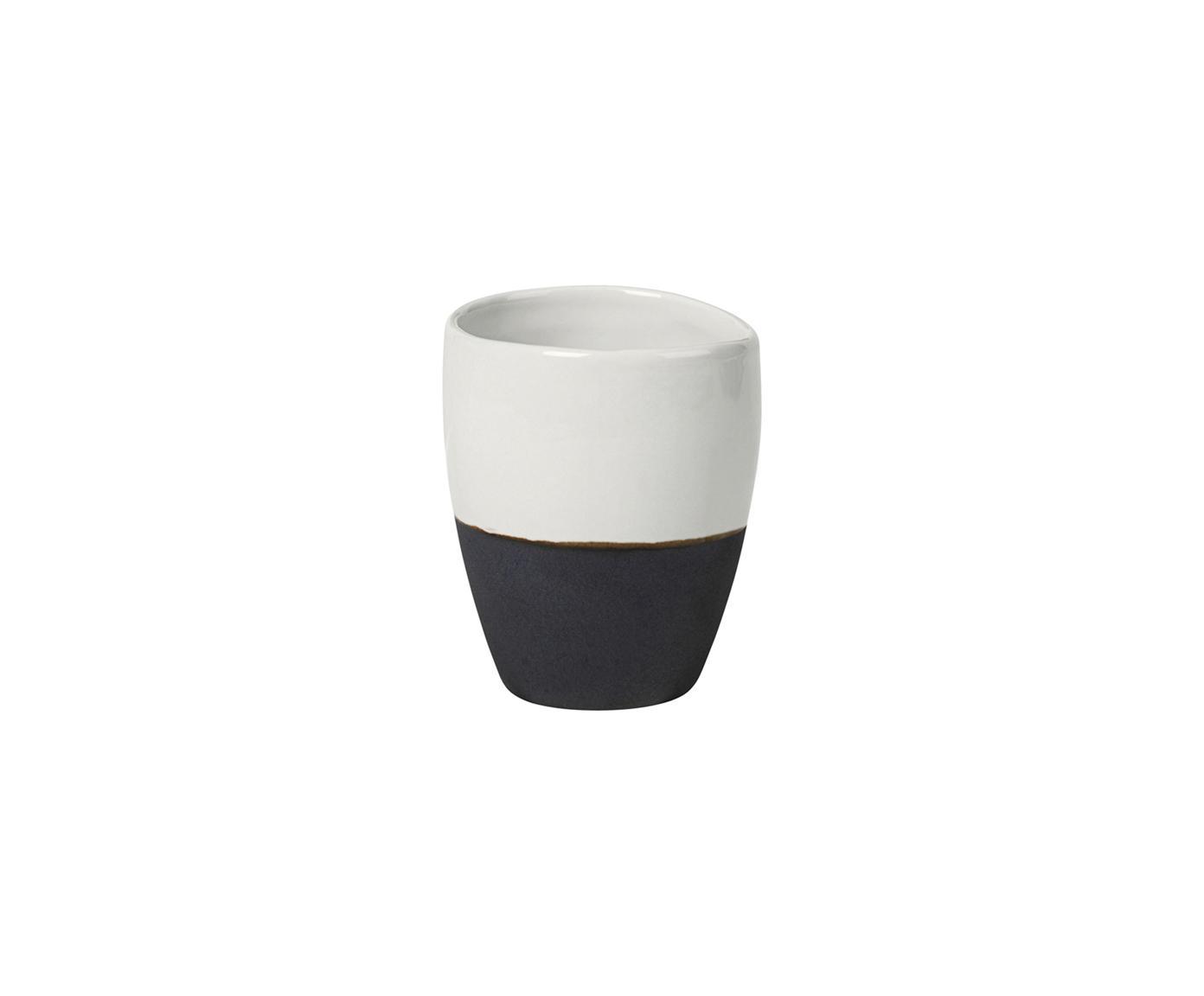Tazza da caffè fatta a mano Esrum 4 pz, Sotto: terracotta, naturale, Avorio, marrone grigio, 100 ml