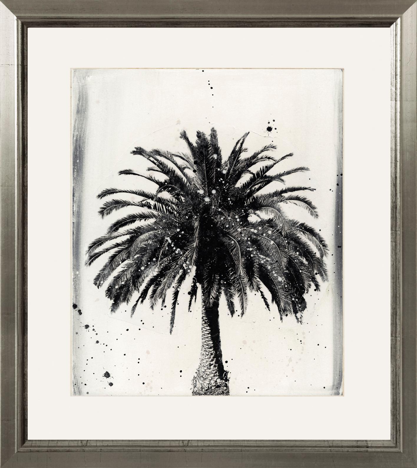 Ingelijste digitale print L.A Dream, Afbeelding: digitale print, Lijst: hout, Afbeelding: zwart, wit. Lijst: zilverkleurig, 60 x 70 cm