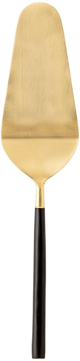 Goldfarbener Tortenheber Amine mit schwarzem Griff aus 18/10 Edelstahl, Edelstahl 18/10, beschichtet, Schwarz, Goldfarben, 7 x 28 cm