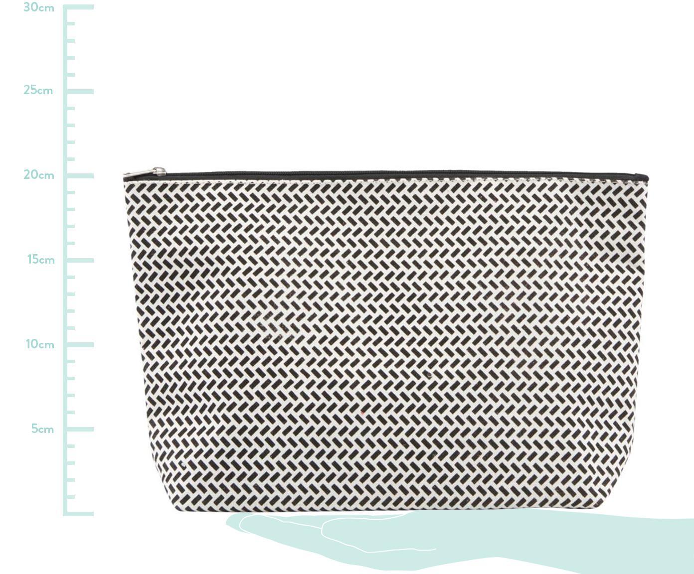 Kosmetiktasche Paran mit Reißverschluss, 38%Baumwolle, 40%Polyester, 22%Rayon, Schwarz, Weiß, 32 x 20 cm