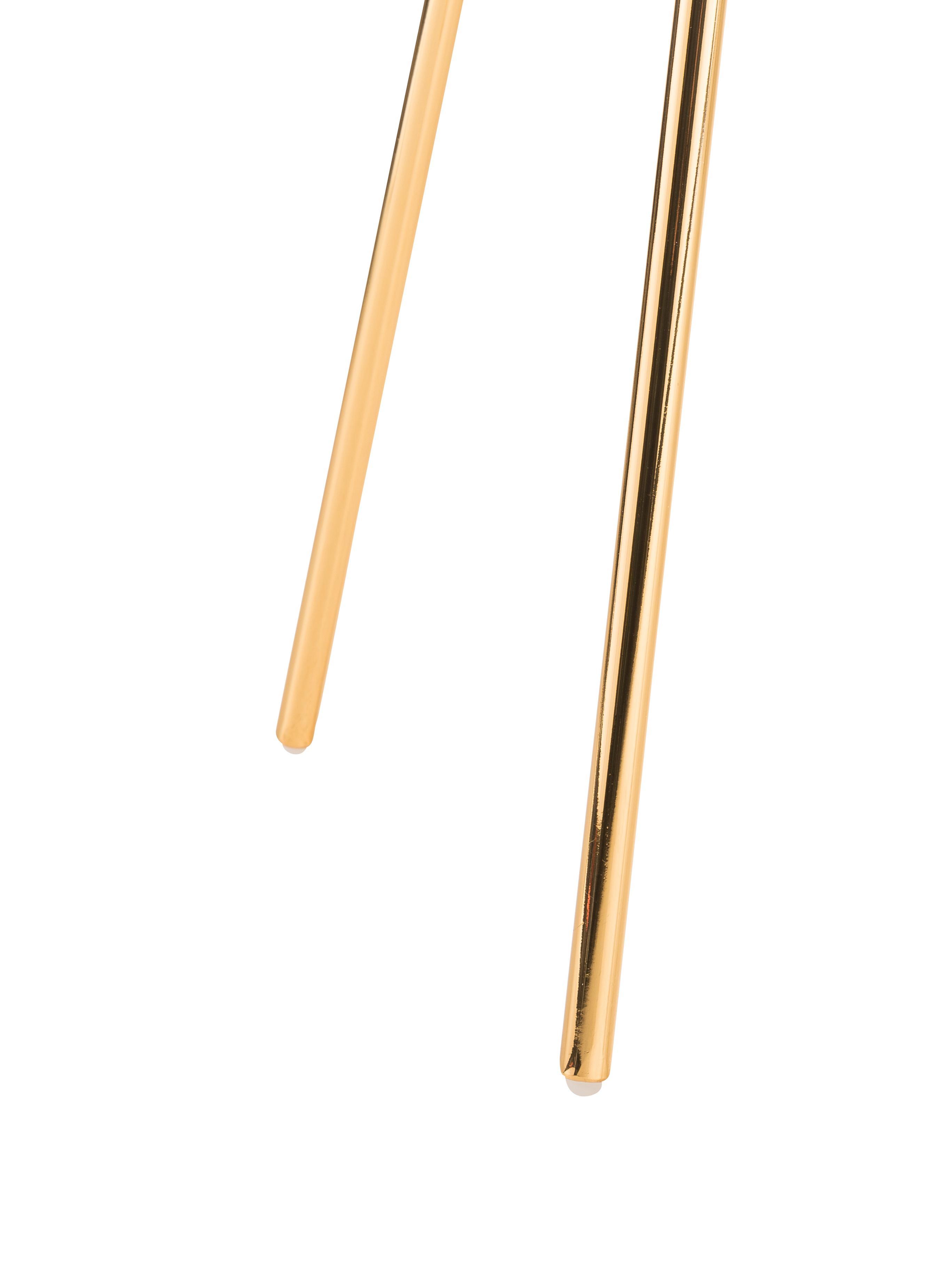 Metall-Sessel Chloé in Gold, Metall, beschichtet, Messing, 71 x 81 cm