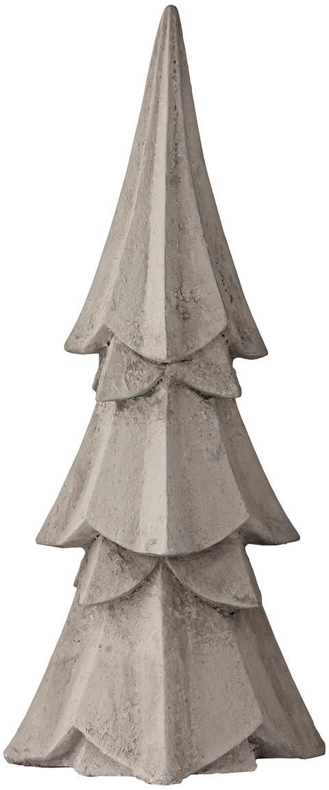 Pieza decorativa Serafina Christmas Tree, Poliresina, Gris claro, Ø 10 x Al 23 cm