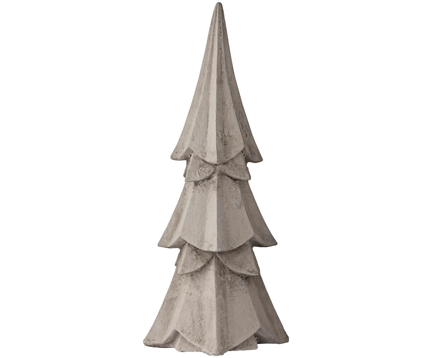 Deko-Objekt Serafina Christmas Tree, Polyresin, Hellgrau, Ø 10 x H 23 cm