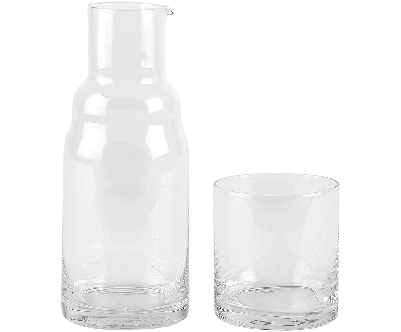 Karaffen-Set Wadi, 2-tlg., Glas, Transparent, Ø 8 x H 21 cm