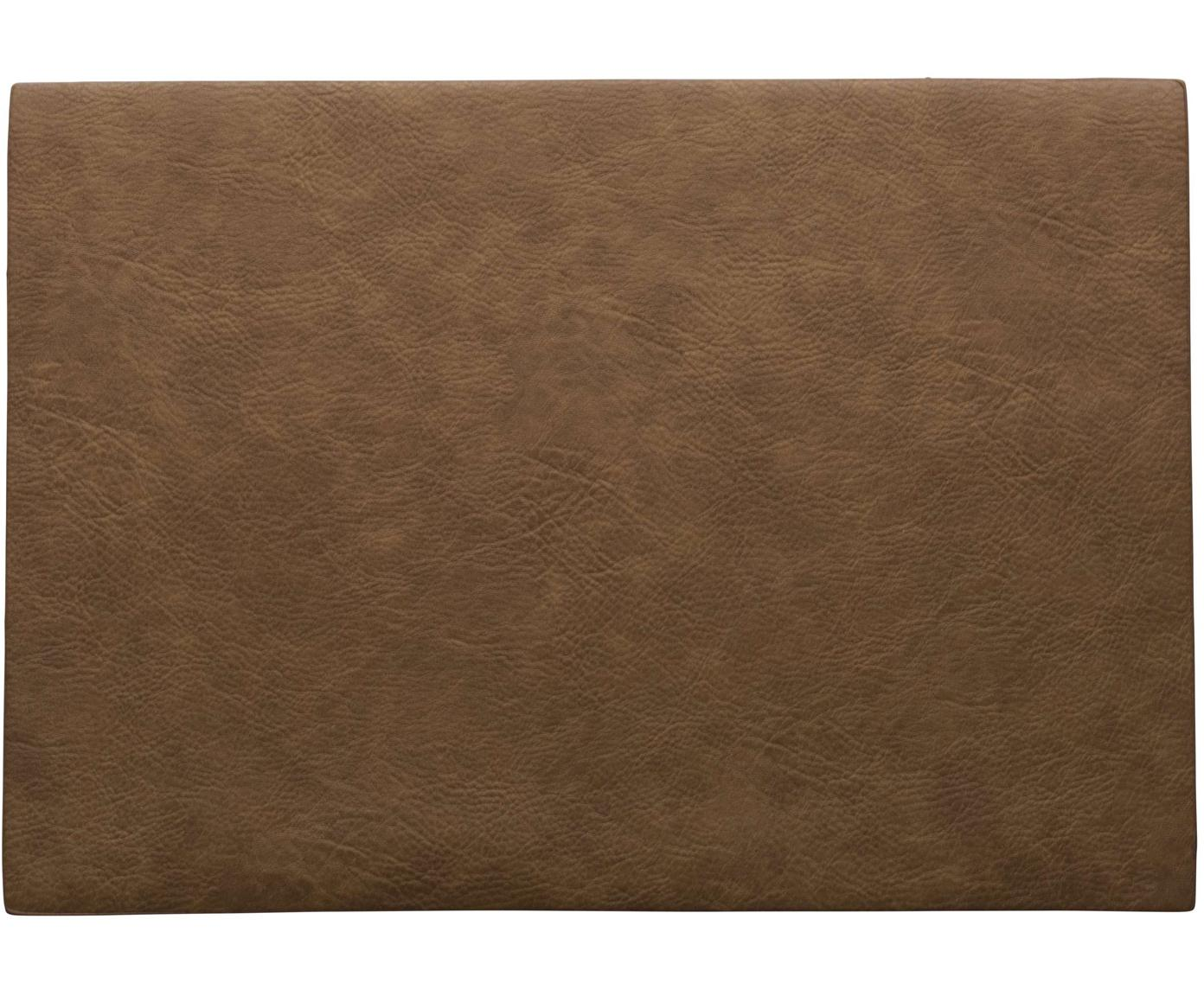 Podkładka ze sztucznej skóry Plini, 2 szt., Sztuczna skóra (poliuretan), Brązowy, S 33 x D 46 cm