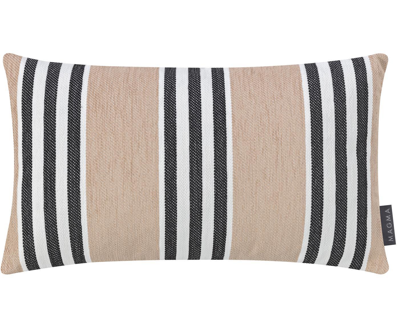 Funda de cojín Palermo, Color arena, blanco, negro, An 30 x L 50 cm