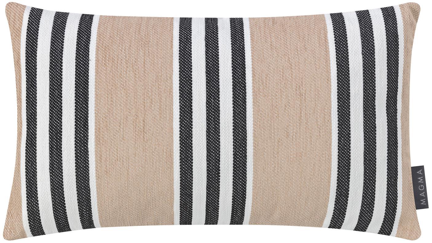 Federa arredo a righe Palermo, Sabbia, bianco, nero, Larg. 30 x Lung. 50 cm