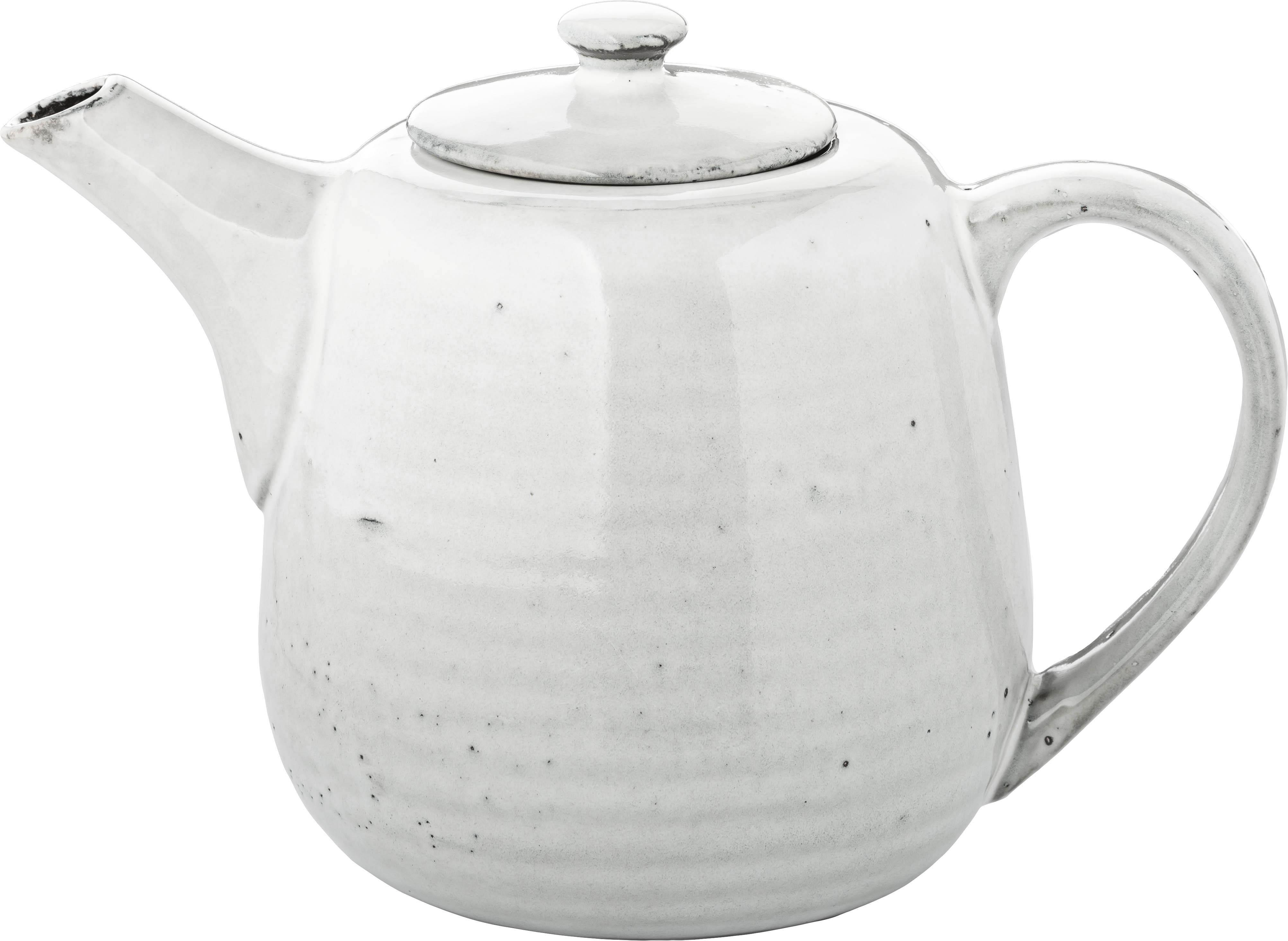 Handgemachte Teekanne Nordic Sand aus Steingut, Steingut, Sand, 1.3 L