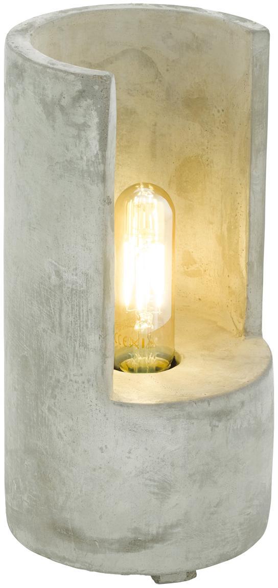 Lampa stołowa z betonu Lynton, Szary, Ø 14 x W 27 cm