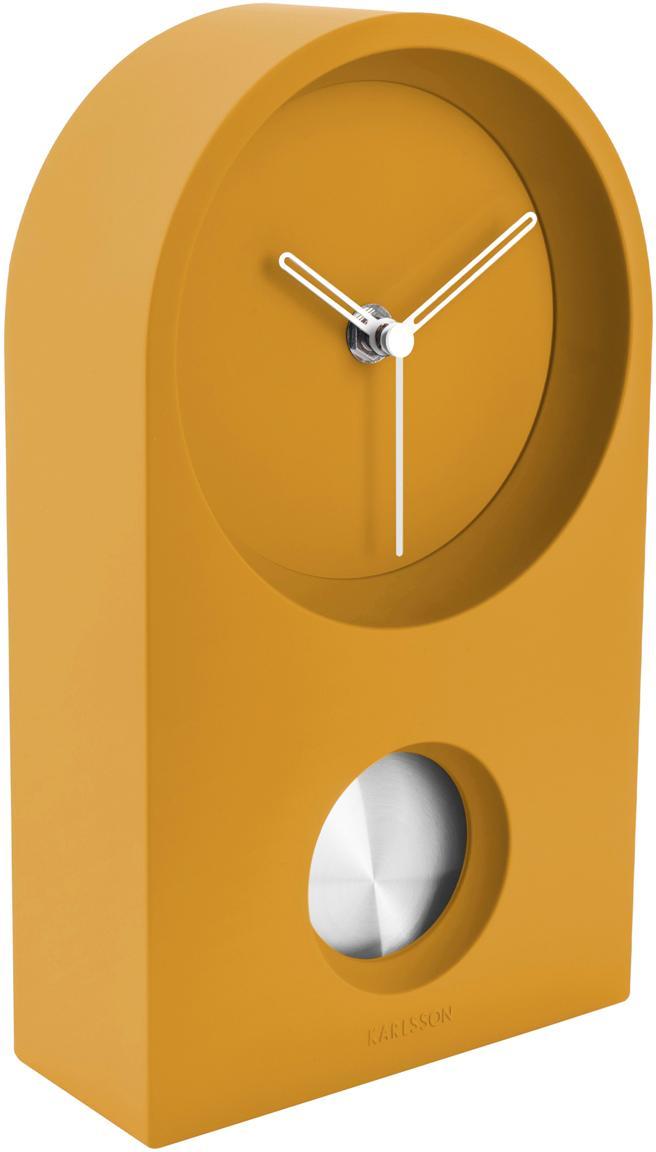 Reloj de mesa Taut, Plástico ABS, Amarillo, plateado, An 15 x Al 25 cm