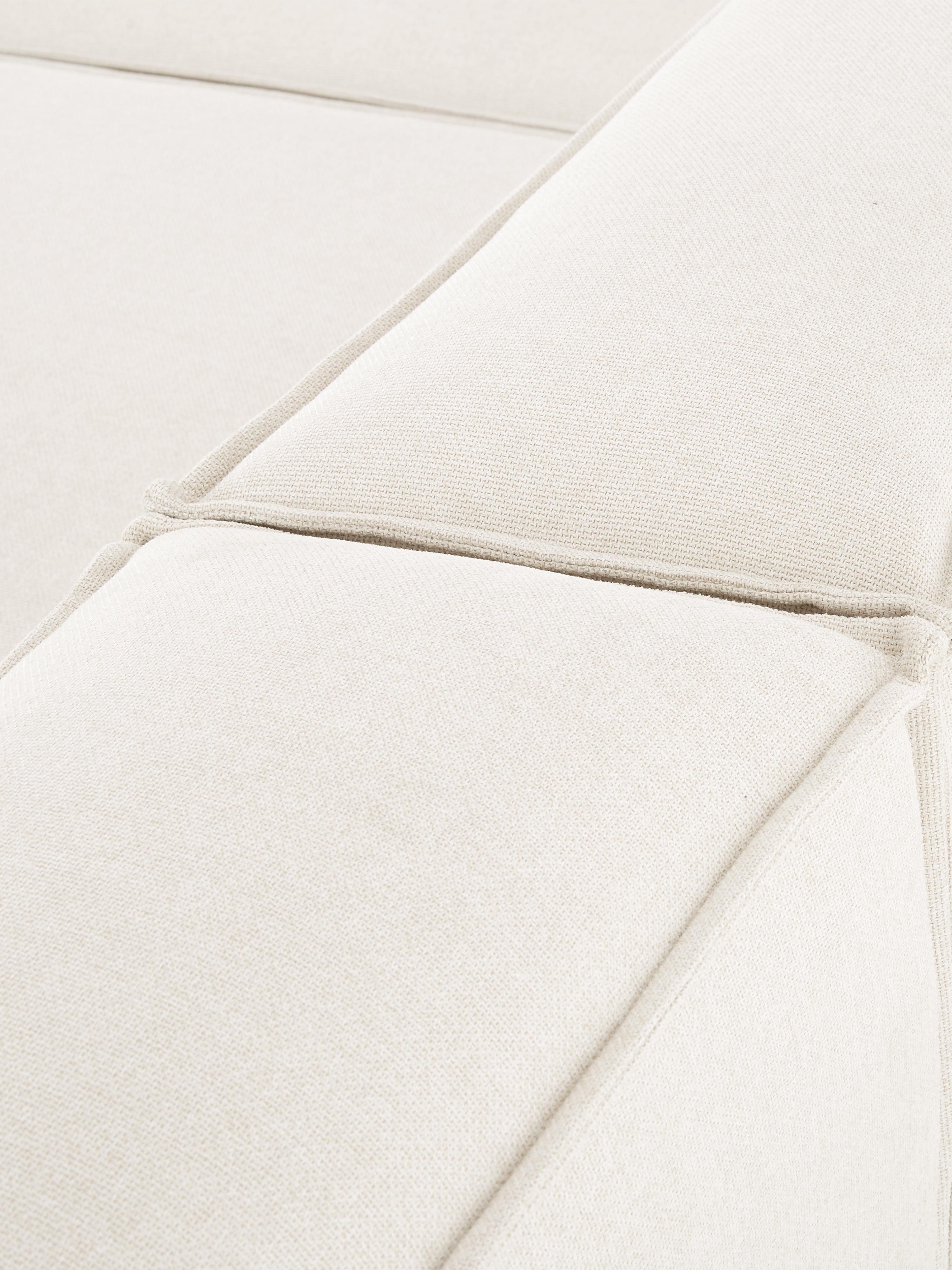 Sofá modular Lennon (4plazas), Tapizado: poliéster Alta resistenci, Estructura: madera de pino maciza, ma, Patas: plástico, Tejido beige, An 326 x F 119 cm
