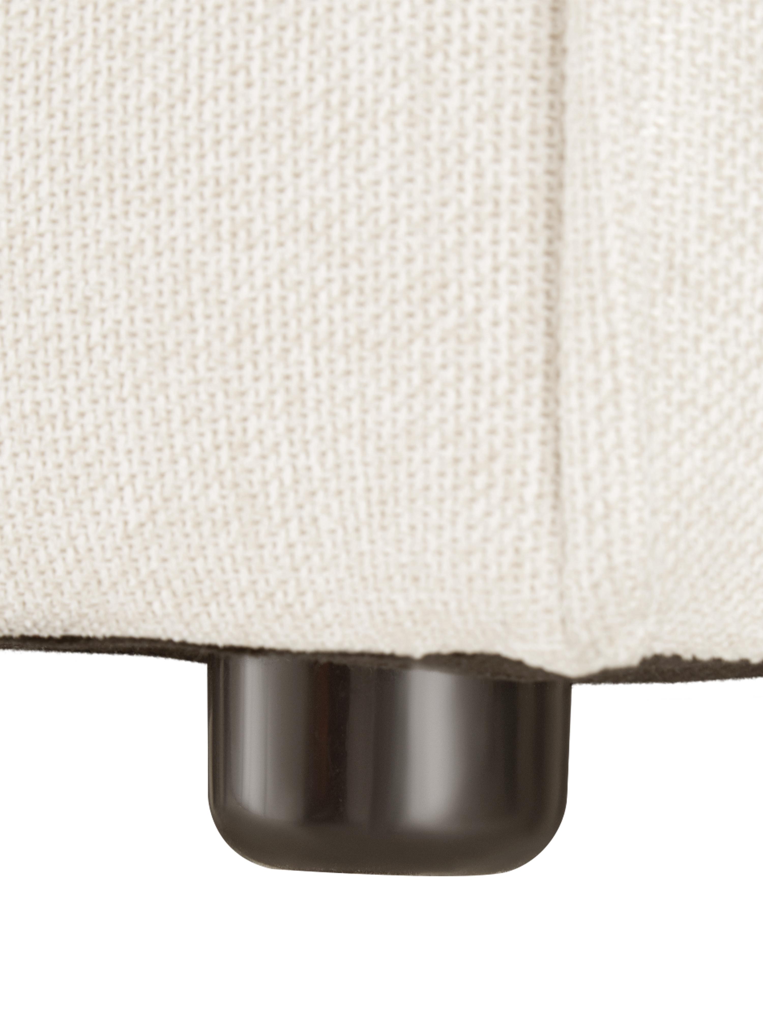 Modulares Sofa Lennon (4-Sitzer), Bezug: Polyester Der hochwertige, Gestell: Massives Kiefernholz, Spe, Füße: Kunststoff, Webstoff Beige, B 326 x T 119 cm