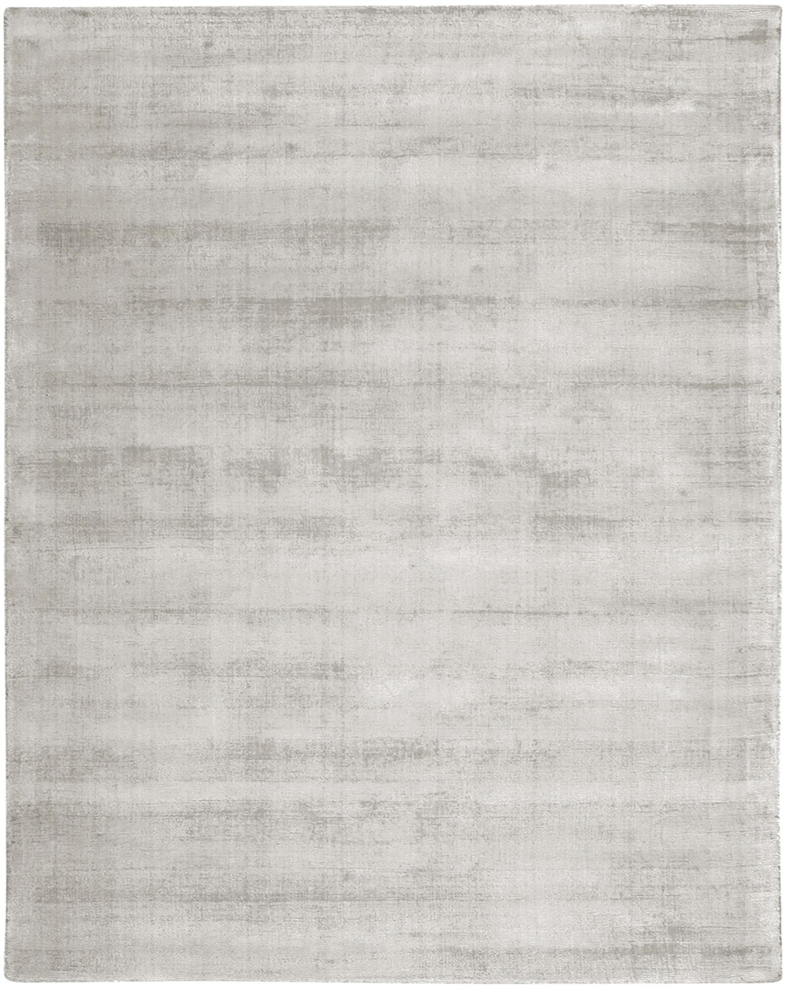 Tappeto in viscosa tessuto a mano Jane, Retro: 100% cotone, Grigio chiaro-beige, Larg. 400 x Lung. 500 cm (taglia XXL)