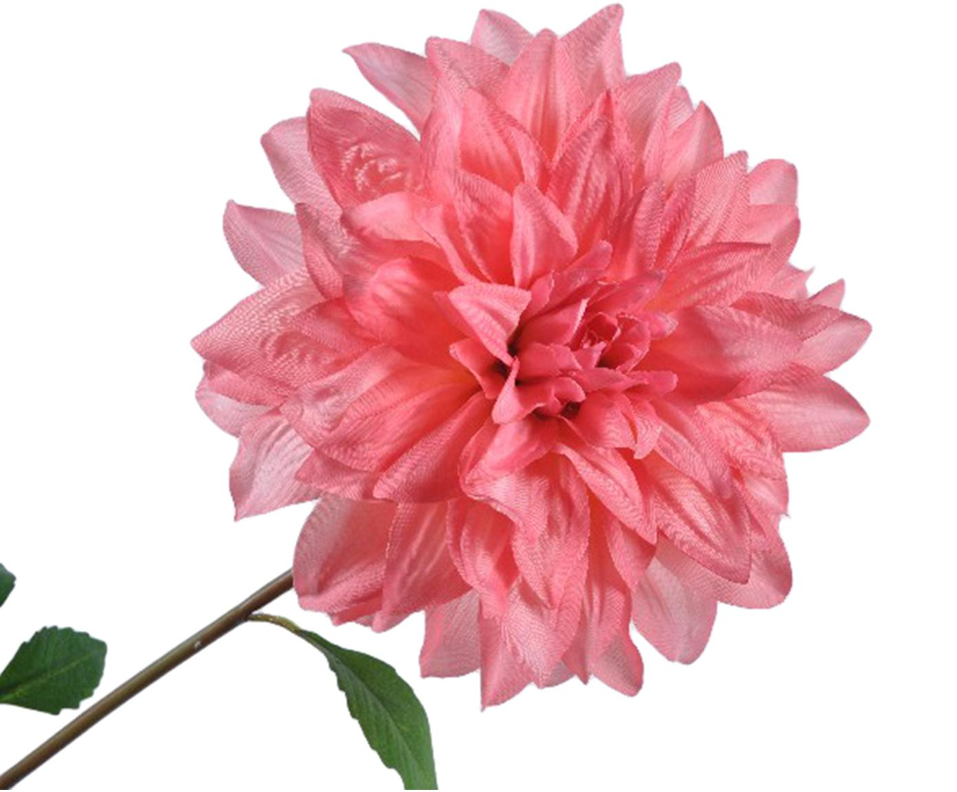 Flor artificial dalia Rosalina, Poliéster, PCV, metal, Rosa, verde, L 69 cm