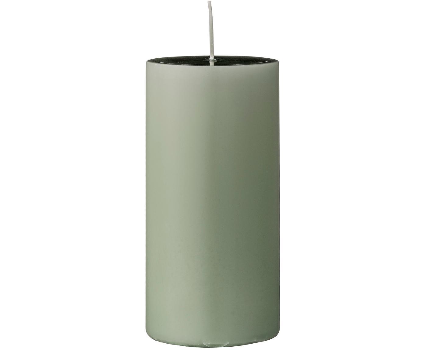 Candela pilastro Lulu 2 pz, Cera, Verde chiaro, Ø 7 x Alt. 15 cm
