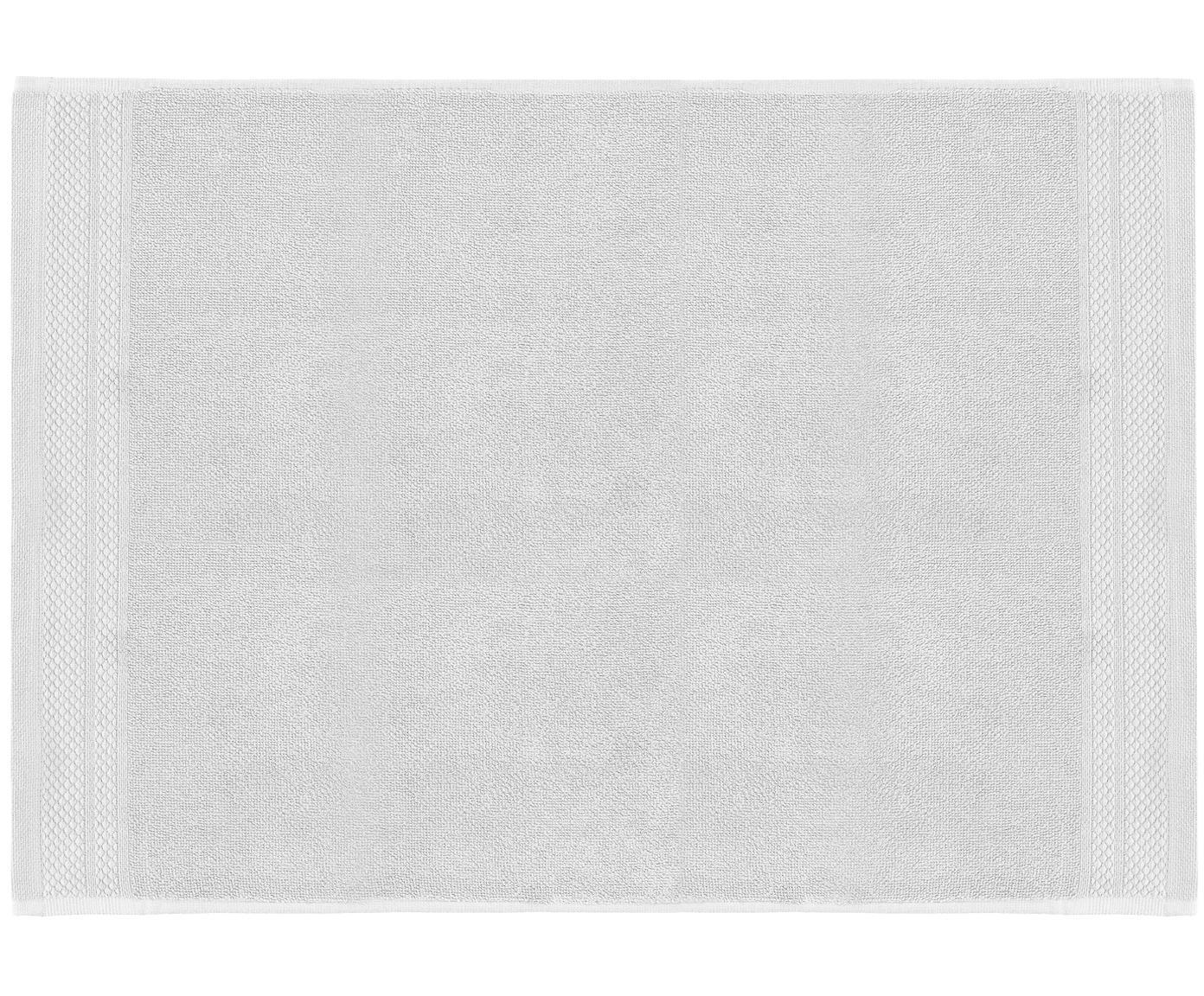 Alfombrilla de baño Premium, antideslizante, 100%algodón Gramaje superior 600g/m², Gris claro, An 50 x L 70 cm