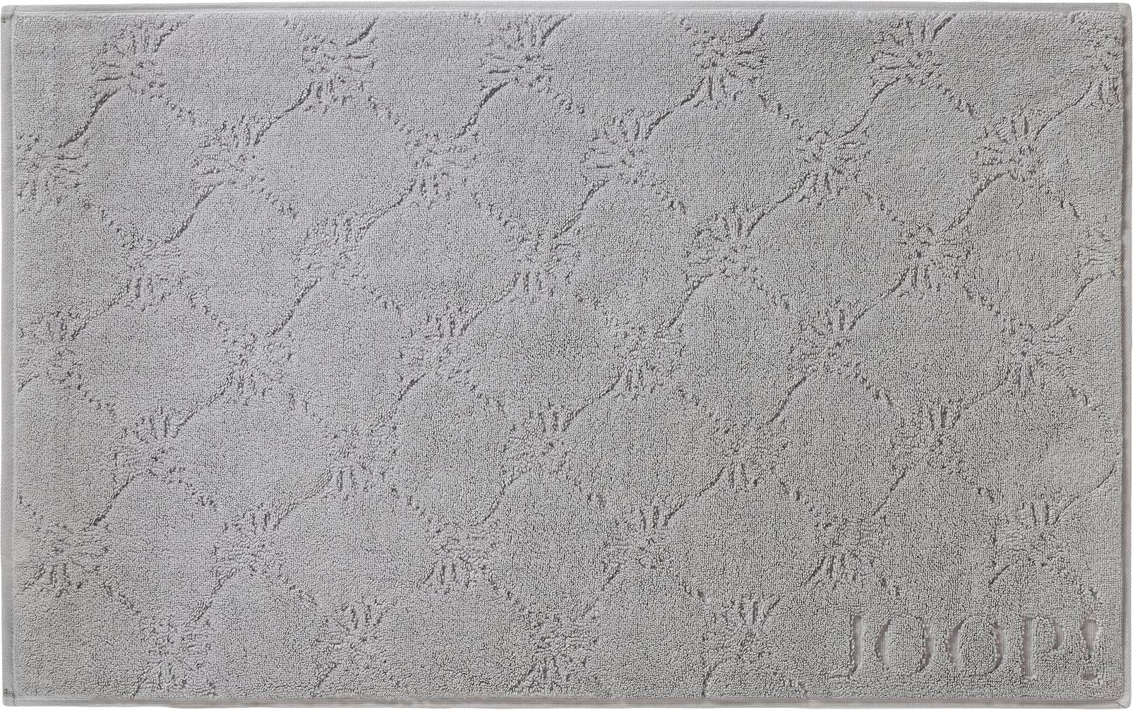 Alfombrilla de baño Cornflower, Gris plata, An 50 x L 80 cm