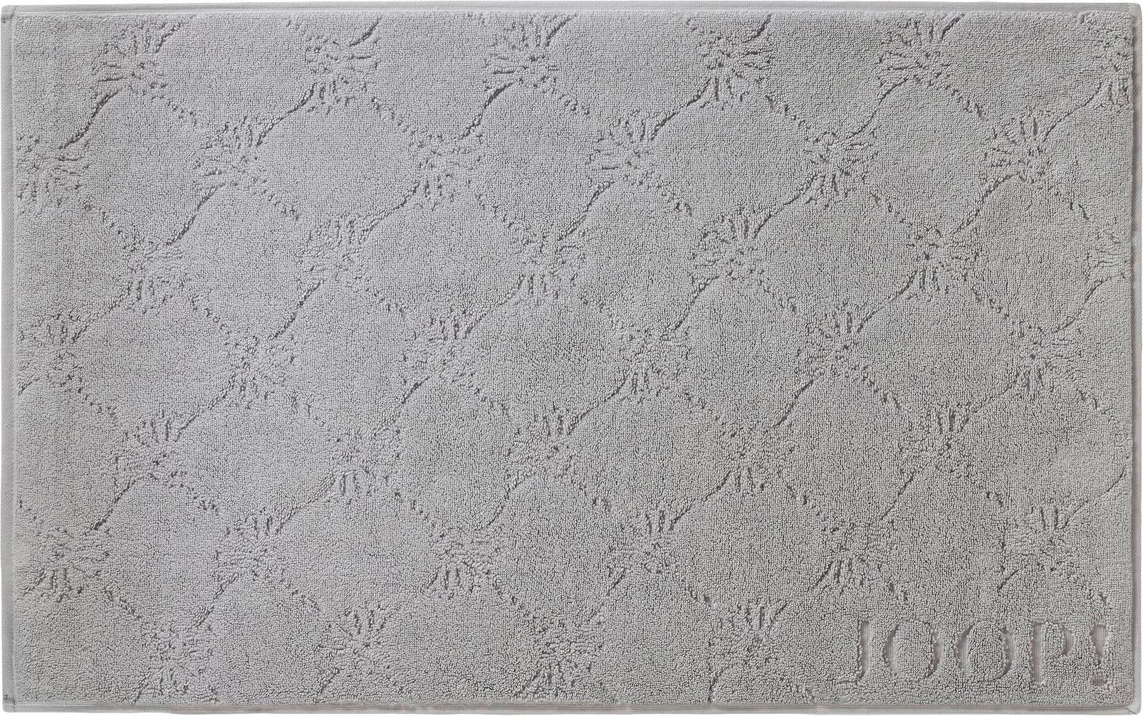 Badvorleger Cornflower, Webart: Walkfrottee, Silbergrau, 50 x 80 cm