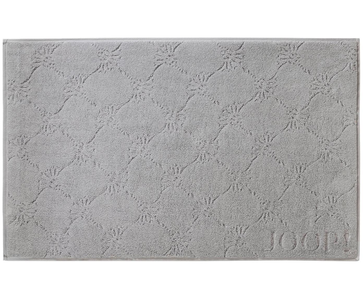 Badmat Cornflower, Weeftechniek: terry, Zilvergrijs, 50 x 80 cm