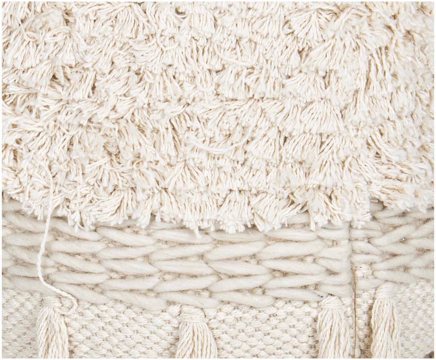 Stołek Acapulco, Tapicerka: bawełna, Beżowy, Ø 30 x W 40 cm