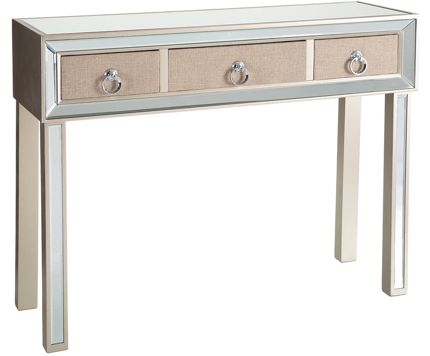 Consola Miriam, Blanco crema, beige, An 100 x Al 80 cm
