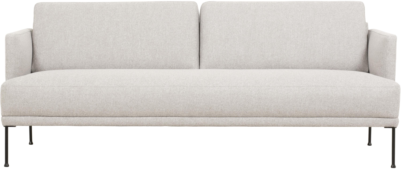 Sofa Fluente (3-osobowa), Tapicerka: 80% poliester, 20% ramia , Stelaż: lite drewno sosnowe, Nogi: metal malowany proszkowo, Beżowy, S 196 x G 85 cm