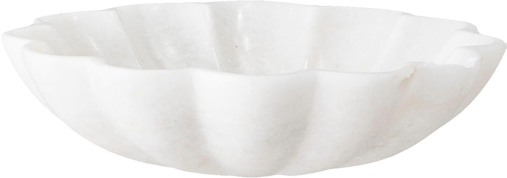 Marmeren zeephouder Mussel, Marmer, Wit, Ø 15 x H 4 cm