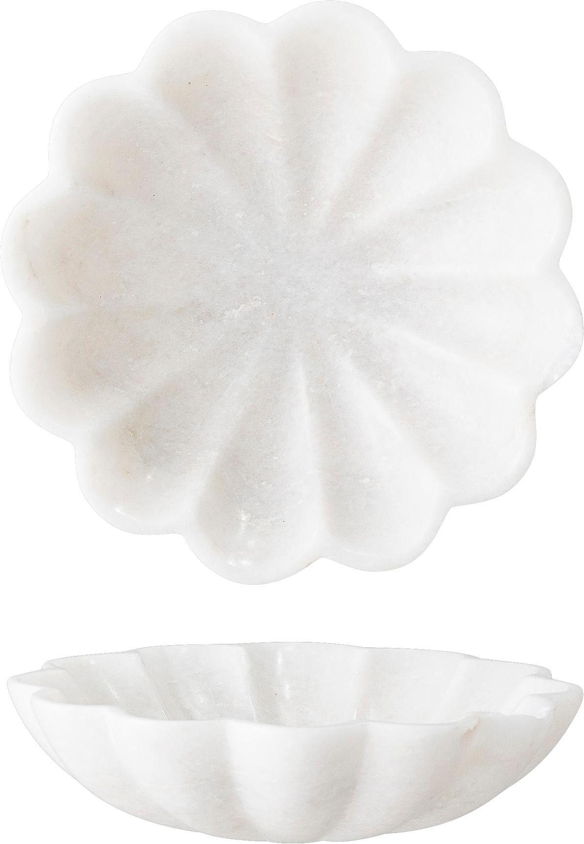 Marmor-Seifenschale Mussel, Marmor, Weiß, Ø 15 cm x H 4 cm