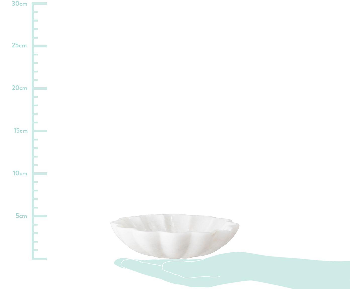 Mydelniczka z marmuru Mussel, Marmur, Biały, Ø 15 cm x W 4 cm