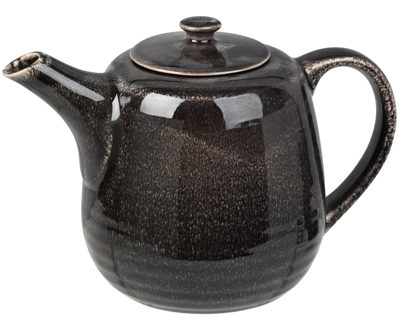 Handgemachte Teekanne Nordic Coal, Steingut, Bräunlich, 1.3 L