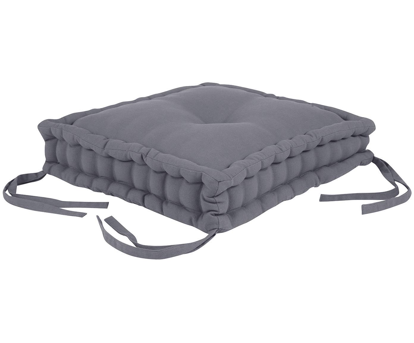 Cuscino sedia Kiara, Grigio scuro, Larg. 45 x Lung. 45 cm