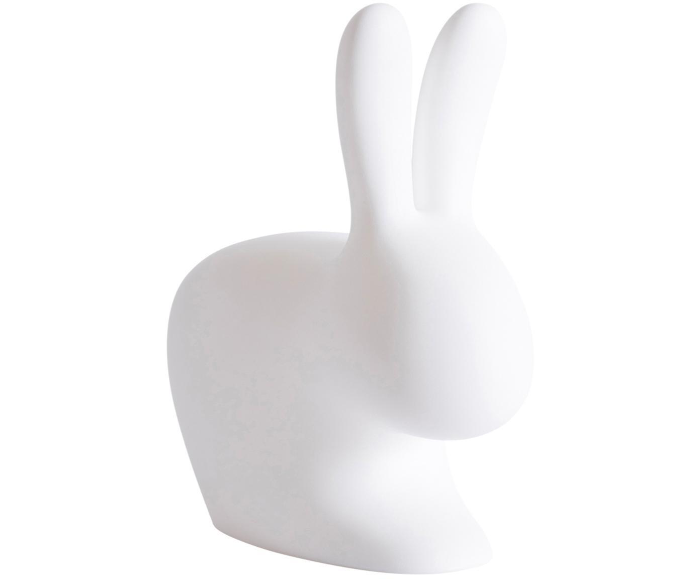 Lámpara de mesa LED de exterior Rabbit, Plástico (polietileno), Blanco, An 45 x Al 53 cm