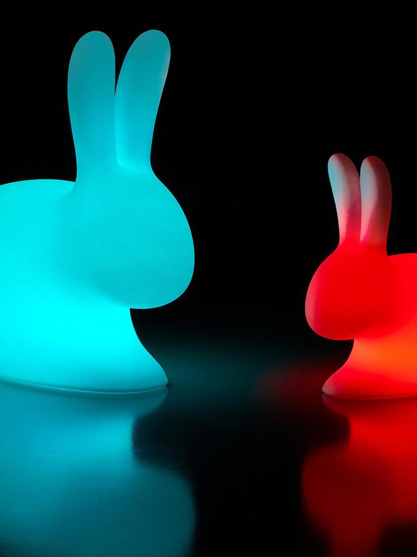 Lampada da tavolo a LED da esterno Rabbit, Plastica (polietilene), Bianco, Larg. 69 x Alt. 80 cm