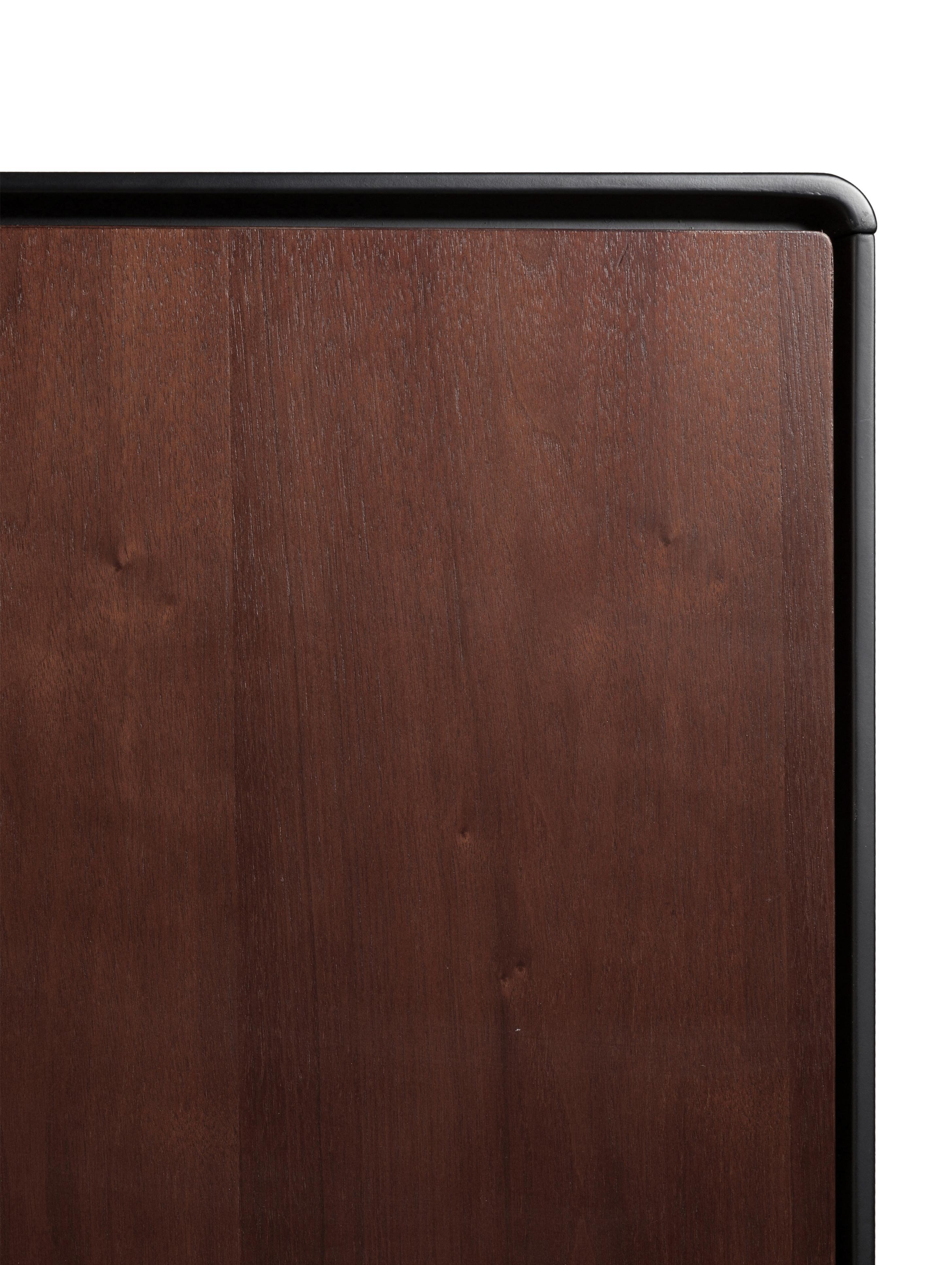 Komoda retro Juju, Nogi: masywne drewno jesionowe,, Brązowy, czarny, S 150 x W 73 cm