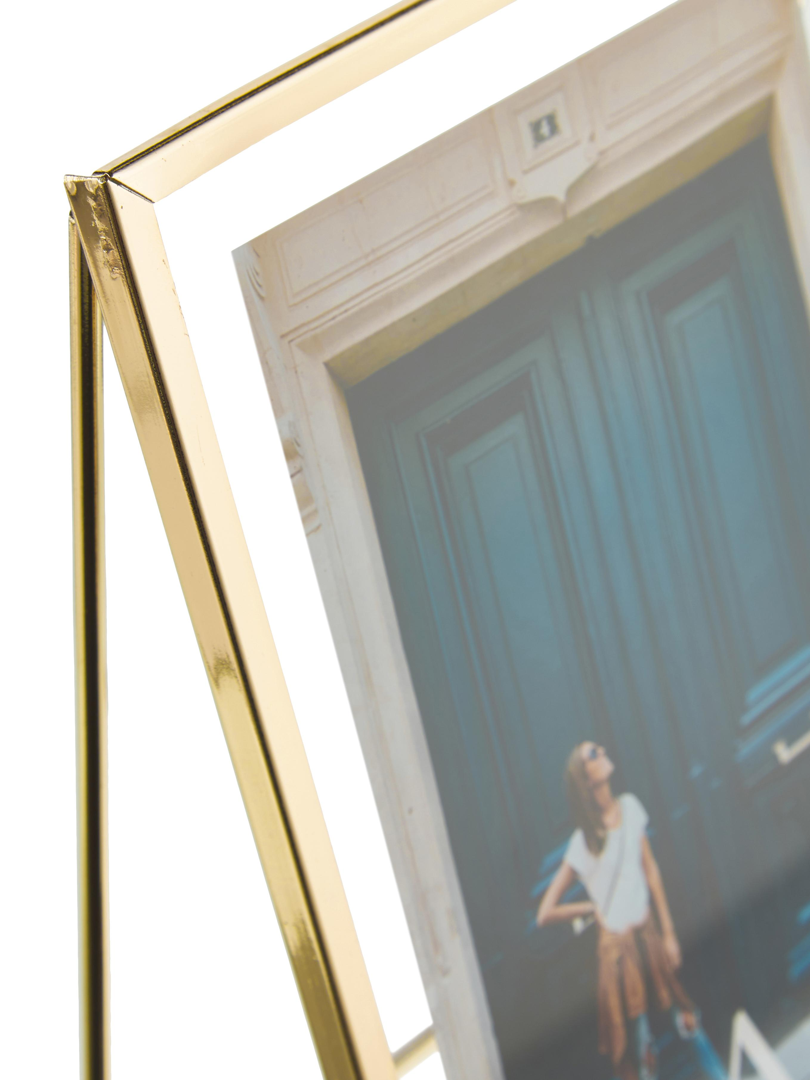 Bilderrahmen Memi, Rahmen: Metall, beschichtet, Front: Glas, Goldfarben, 13 x 18 cm