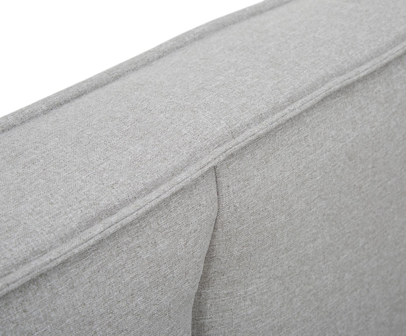 Polsterbett Dream mit Stauraum, Korpus: Massives Kiefernholz, Bezug: Polyester (Strukturstoff), Webstoff Grau, 180 x 200 cm
