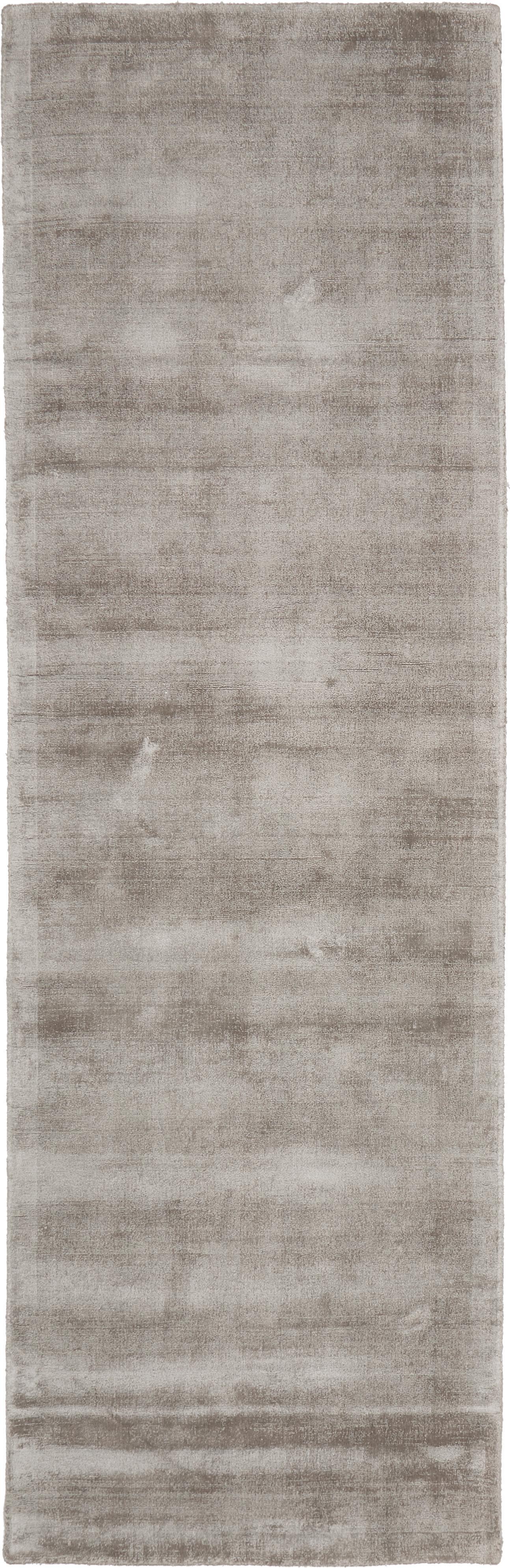 Ręcznie tkany chodnik z wiskozy Jane, Taupe, S 80 x D 250 cm