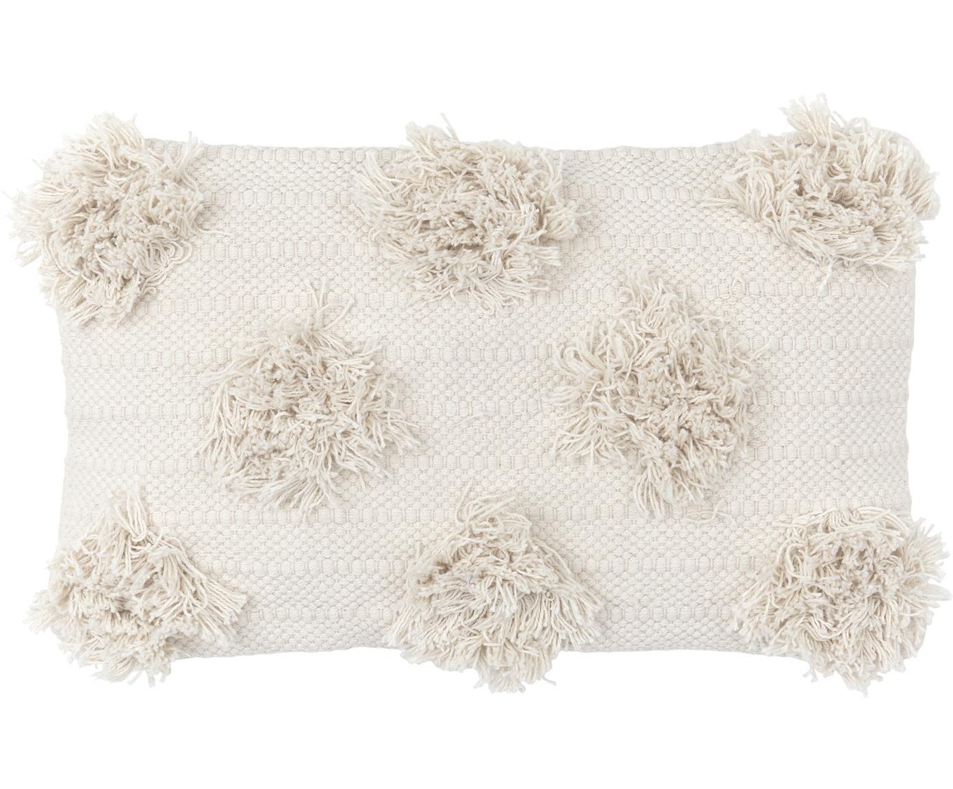 Kissenhülle Vana, Baumwolle, Ecru, 30 x 50 cm
