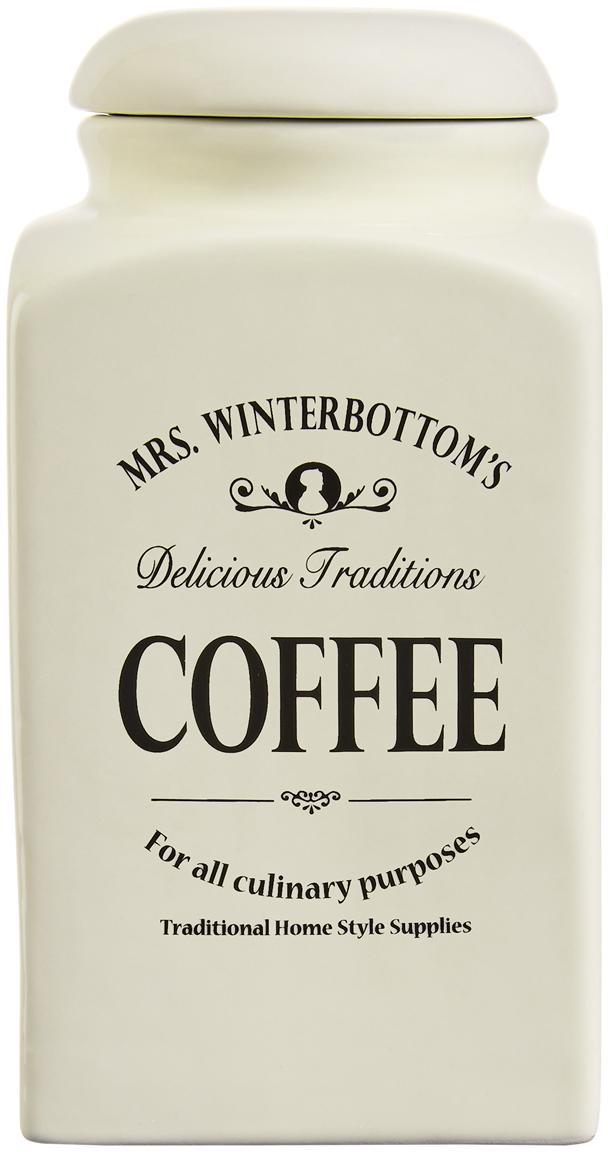 Bote Mrs Winterbottoms Coffee, Gres, Crema, negro, An 11 x Al 21 cm