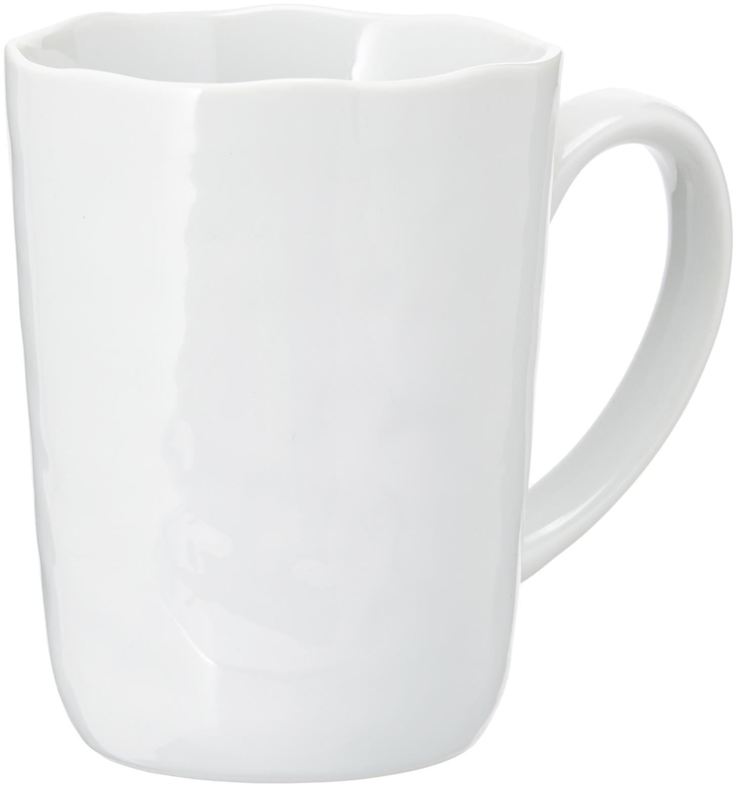 Tazza caffè con superficie irregolare Porcelino 6 pz, Porcellana, volutamente irregolare, Bianco, Ø 8 x Alt. 11 cm