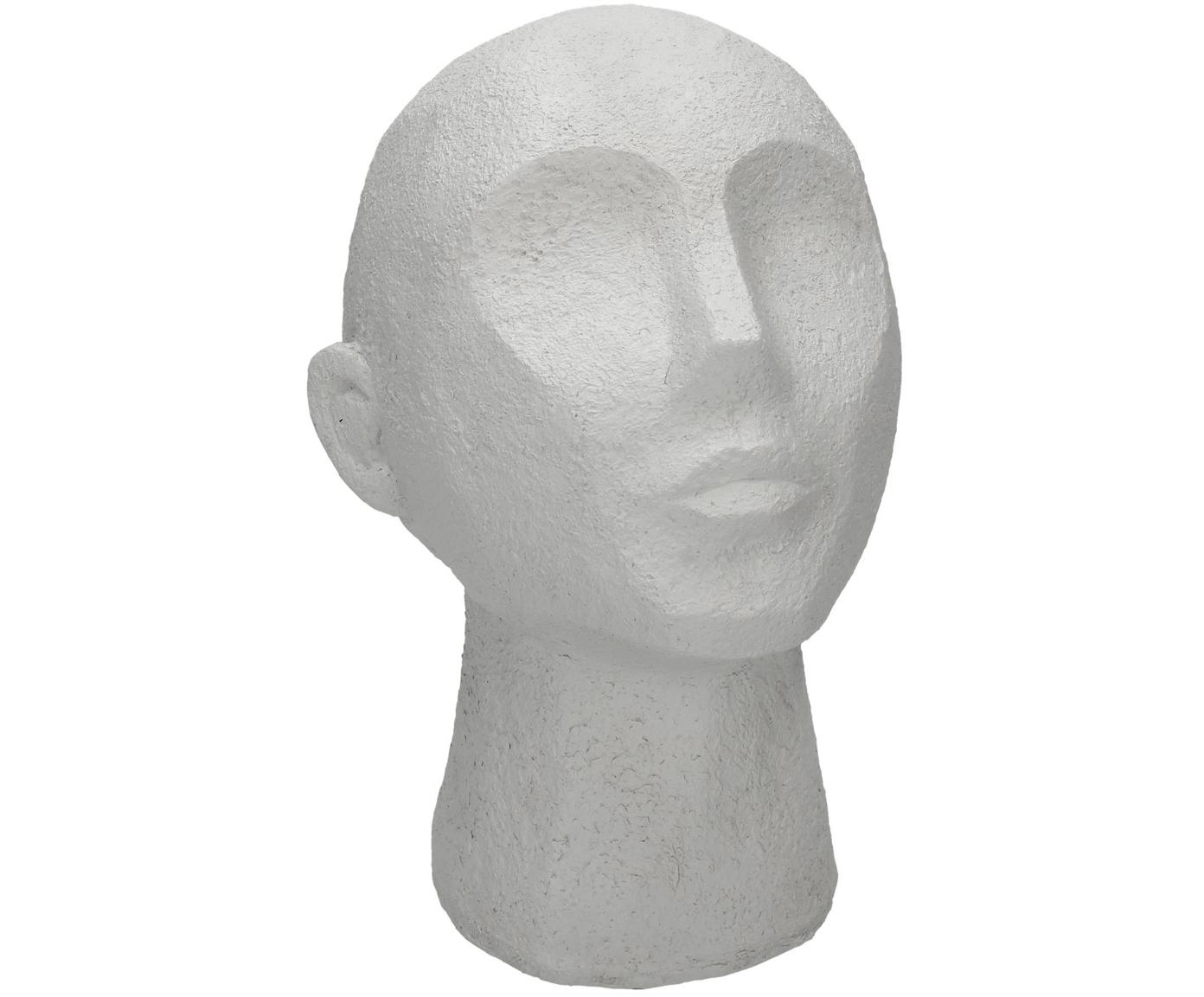 Decoratief object Head, Polyresin, Wit, 19 x 23 cm